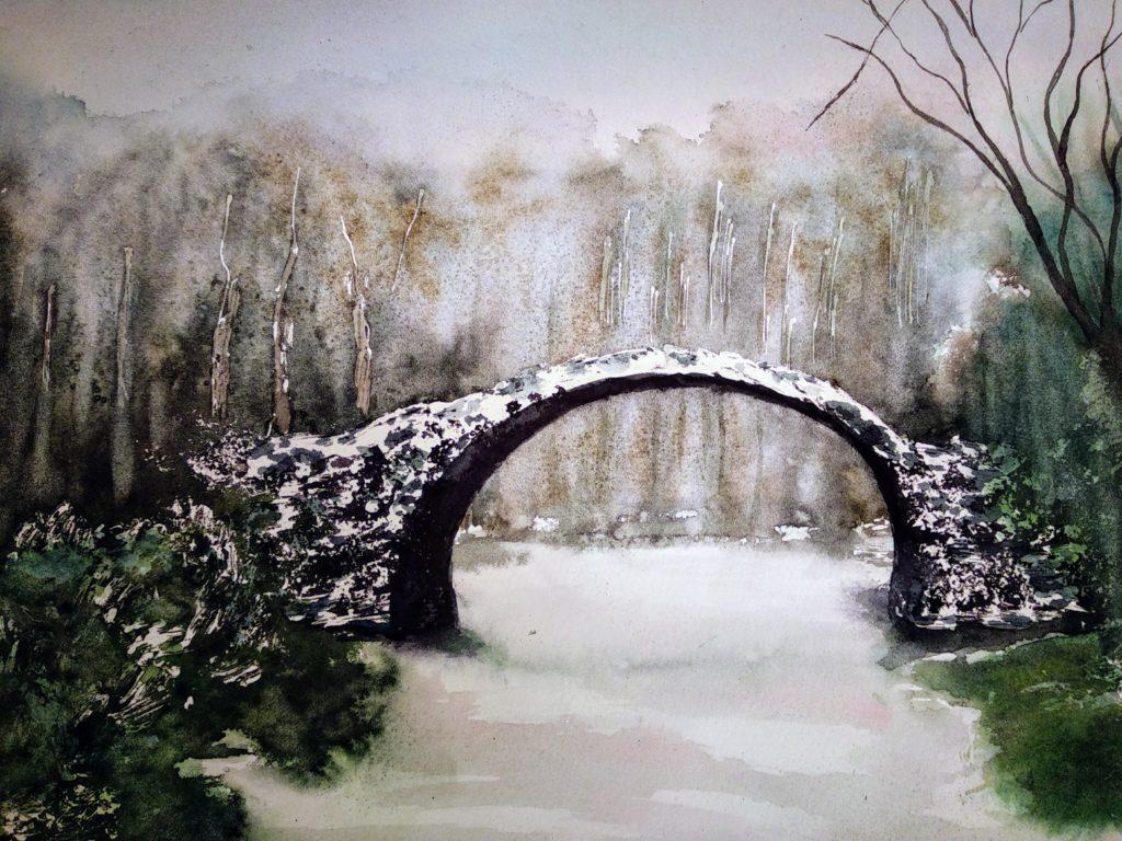 Most Diabła zimą