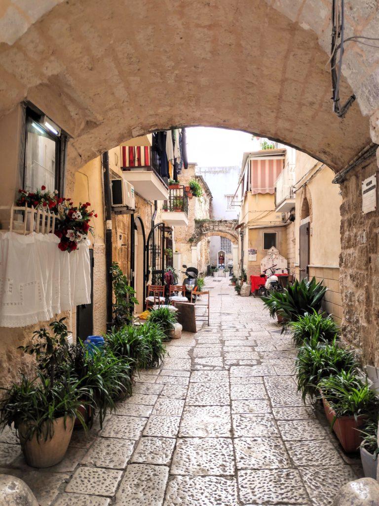 Urokliwe uliczki Bari Vecchio.